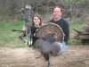 Brett and Rod with Bretts bearded-hen